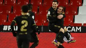 Griezmann anotó el primero gol del Barça en el Nuevo Los Cármenes