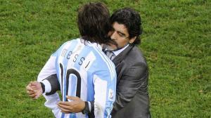 Cuando Messi escuchó a Maradona para mejorar en los tiros libres