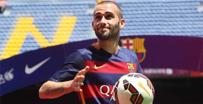 Aleix Vidal, presentado como jugador del FC Barcelona