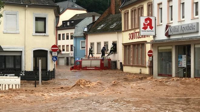 Dantescas inundaciones en Alemania