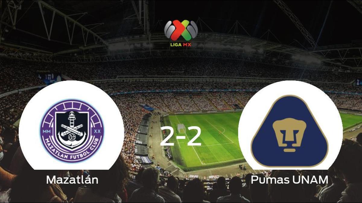 Reparto de puntos entre el Mazatlán y el Pumas UNAM (2-2)