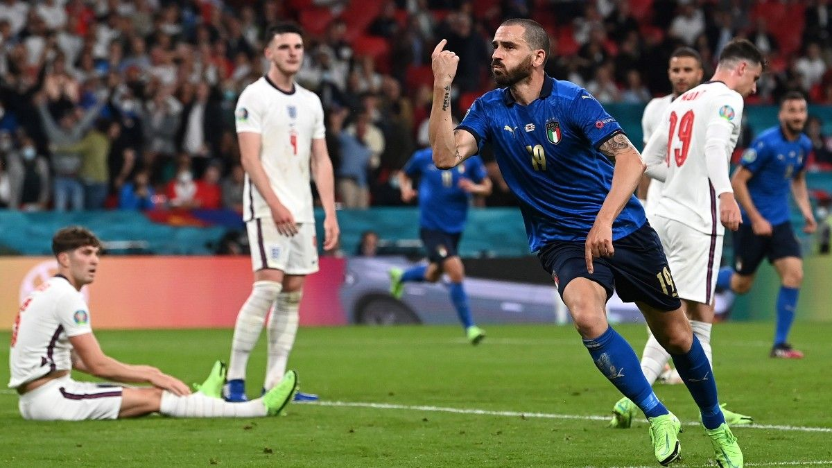 Leonardo Bonucci empató para Italia la final de la Eurocopa ante Inglaterra