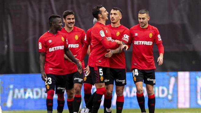 Los jugadores del Mallorca celebran un gol esta temporada