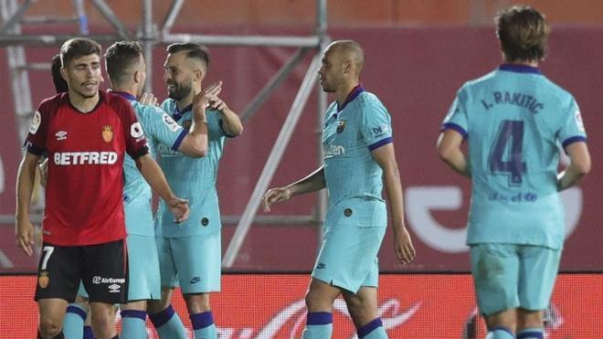 Jordi Alba valoró la victoria del FC Barcelona en Mallorca