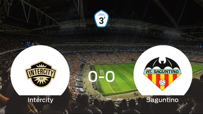 El CF Intercity y el At. Saguntino se reparten los puntos en un partido sin goles (0-0)