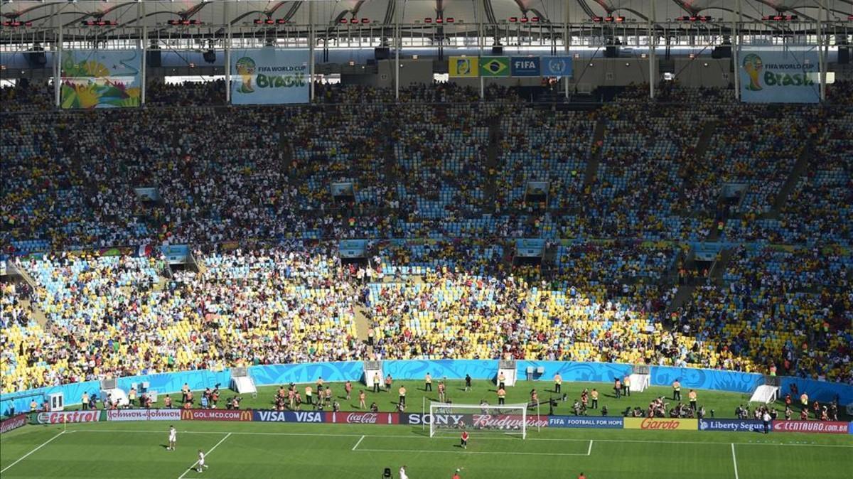 Imagen del estadio de Maracaná durante la final del Mundial de Brasil