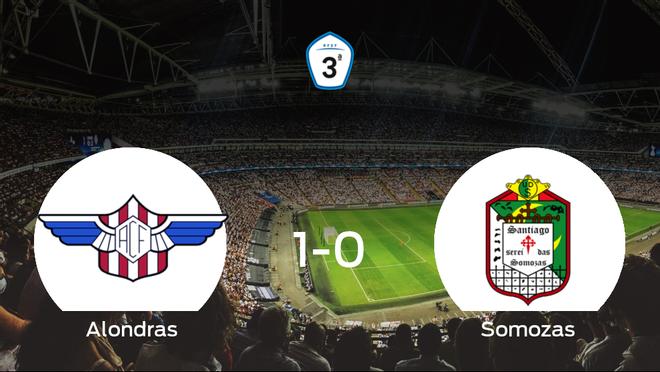 El Alondras se hace fuerte en casa y consigue vencer al Somozas (1-0)