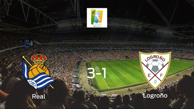 La Real Sociedad Femenina vence 3-1 en su estadio ante el Logroño Femenino