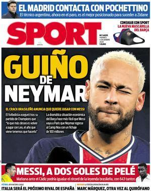 Guiño de Neymar