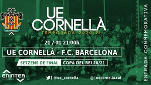 Entrada virtual UE Cornellà - FC Barcelona de la Copa del Rey