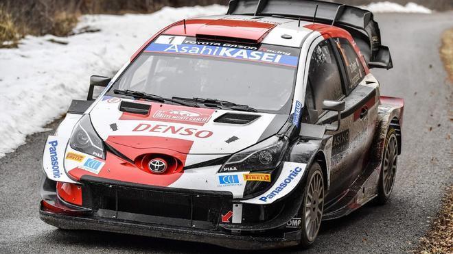 Ogier durante la tercera jornada del Rally de Montecarlo
