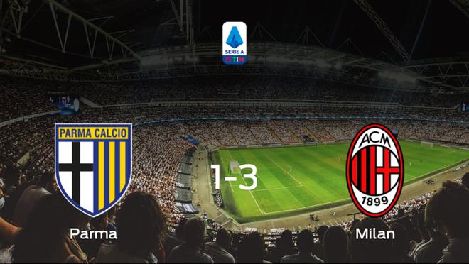El AC Milan se lleva los tres puntos frente al Parma (1-3)