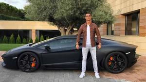 Cristiano Ronaldo y su Lamborghini
