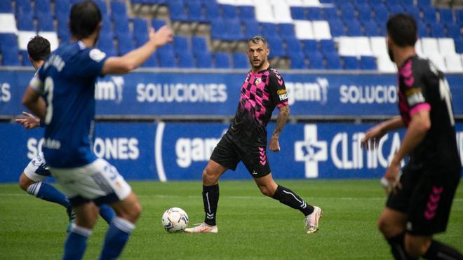 Stoichkov, durante el partido ante el Oviedo