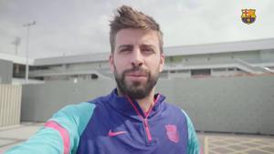 Las felicitaciones del primer equipo masculino al Barça femenino