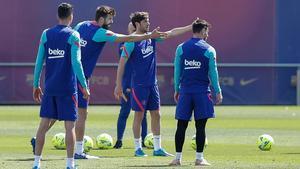 El Barça se ejercitó pensando en el Atlético