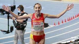 Lucía Rodríguez tras su participación en los 3.000 metros