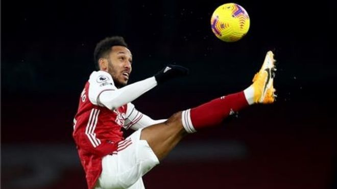 Aubameyang, futbolista del Arsenal