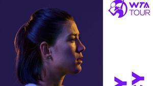 Muguruza, en la campaña de la WTA para presentar su nuevo logo