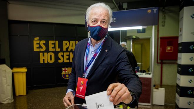 Carles Tusquets, presidente de la Junta Gestora, en su último día a cargo del FC Barcelona