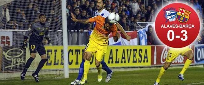 El Barça ganó con comodidad en Vitoria