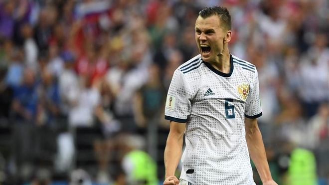 Cheryshev, en un partido con el Rusia en la Copa del Mundo 2018
