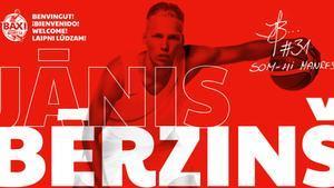 Janis Berzins, nuevo fichaje de Baxi Manresa