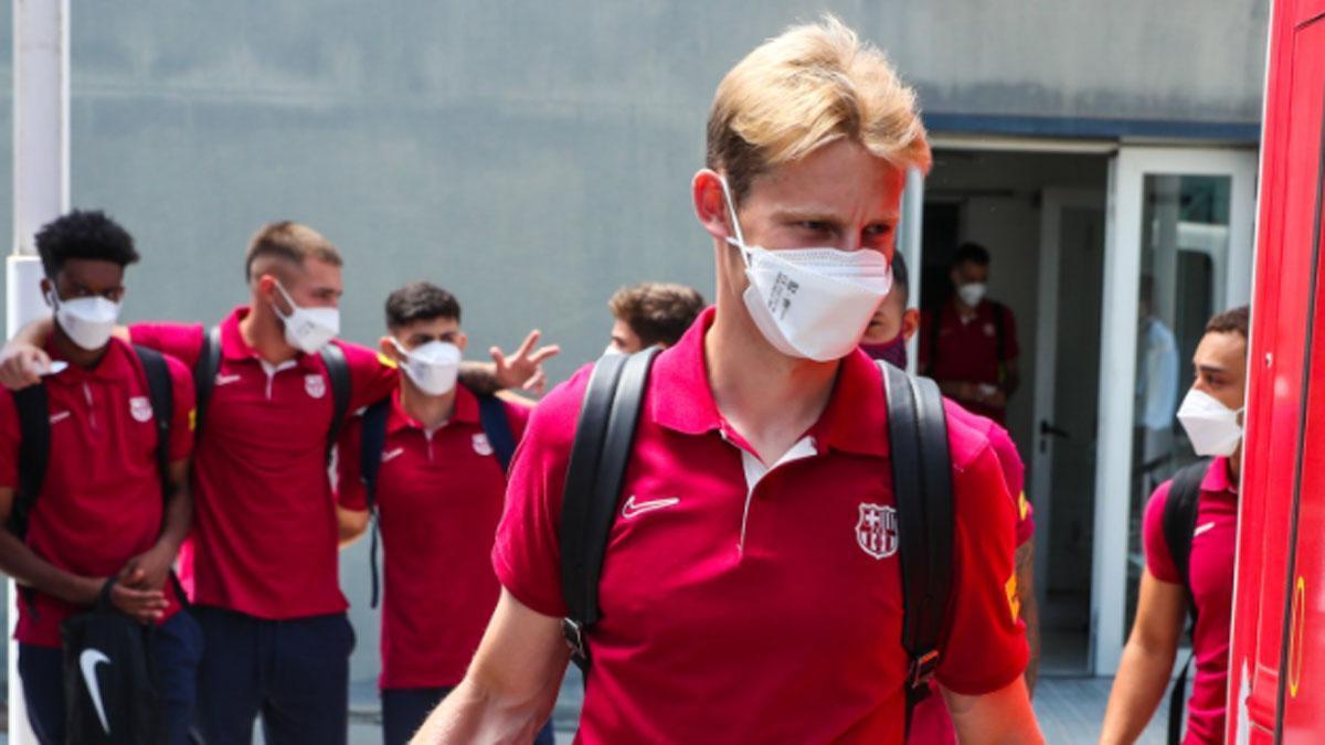 El Barça ya está en su cuartel general en Alemania