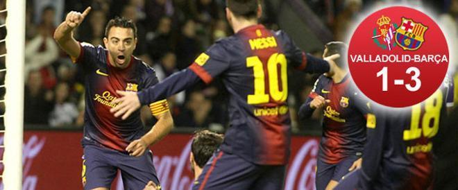 Xavi abrió el camino de la goleada barcelonista