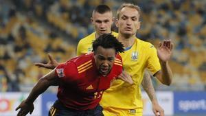 Ucrania estaba encuadrada en el Grupo A, junto a España, Alemania y Suiza