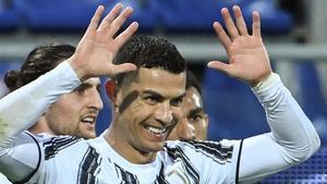 Cristiano Ronaldo, celebrando un gol con la Juventus