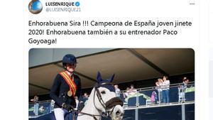 La felicitación de Luis Enrique a su hija Sira Martínez Cullell