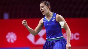 Carolina Marin venció a Line Hojmark Kjaersfeldt y se clasificó para cuartos de final