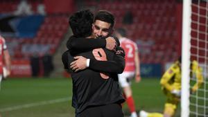 Ferran Torres celebra su gol en la FA Cup