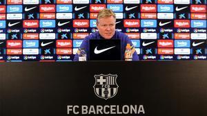 Sigue en directo la rueda de prensa de Koeman previa al encuentro de Copa ante el Rayo Vallecano