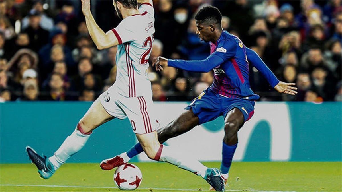 LACOPA   FC Barcelona - Celta de Vigo (5-0): Dembélé, ovacionado