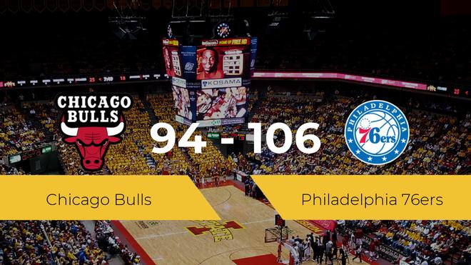 Victoria de Philadelphia 76ers ante Chicago Bulls por 94-106
