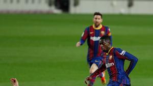 Ousmane Dembelé en el partido de LaLiga entre el FC Barcelona y el Valladolid disputado en el Camp Nou.