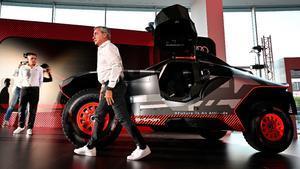Carlos Sainz, en su primera aparición pública tras su fichaje por Audi