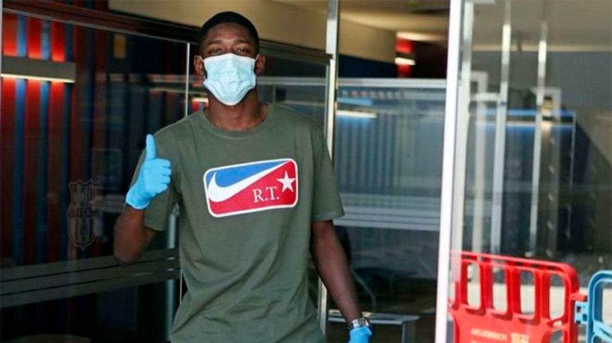Dembélé ya trabaja en la Ciutat Esportiva