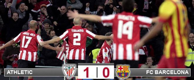 El Athletic Club supo cómo tumbar a un Barça que encajó su segunda derrota en una semana