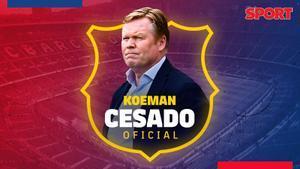 Koeman deja de ser entrenador del Barça