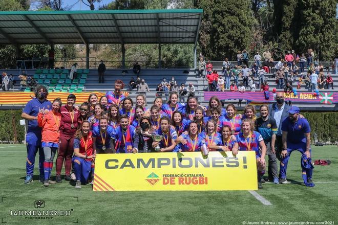 El Barça femenino de Rugby campeón de la División de Honor Catalana Quadis