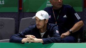 Murray, en la pasada final de la Copa Davis