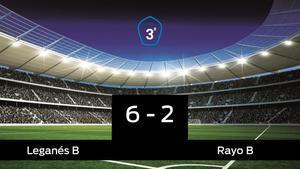 El Leganés B derrota en casa al Rayo B por 6-2