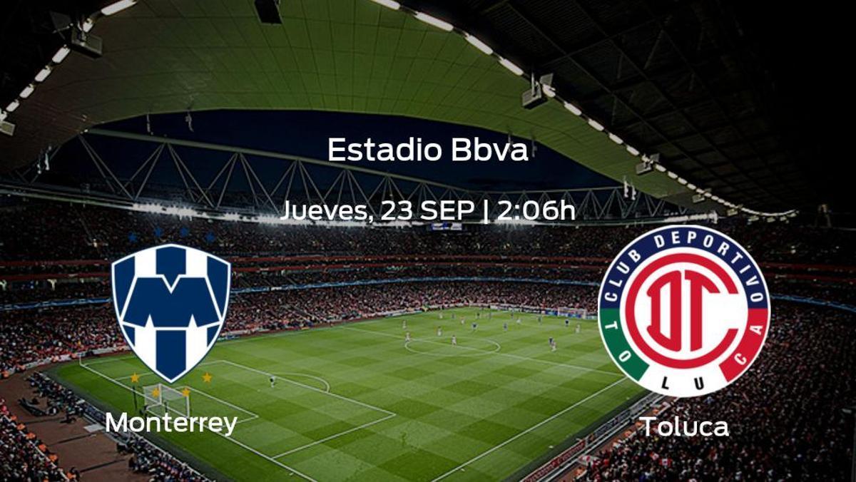Previa del partido: el Monterrey recibe al Toluca
