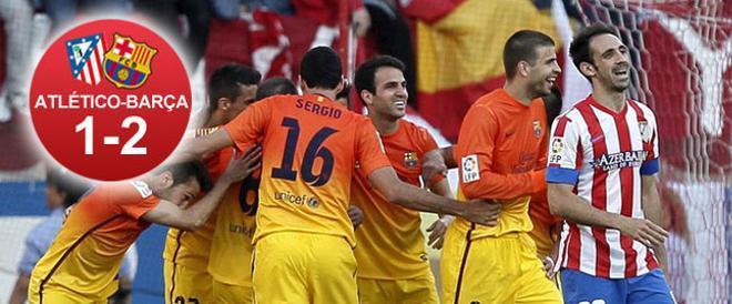 El Barça remontó en el Calderón