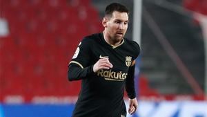 Messi, durante un partido jugado recientemente con la camiseta del FC Barcelona