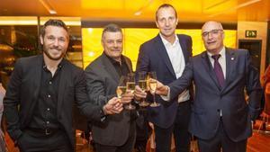 Tomás, Pascual, Barrufet y Argemí brindaron por el noveno título seguido de Liga
