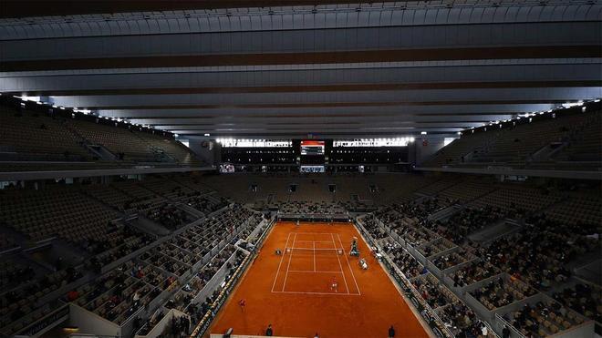 Una de las pistas de Roland Garros